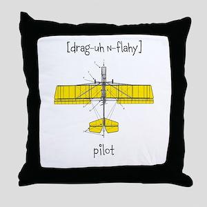 [drag-uh n-flahy] Throw Pillow